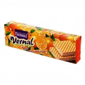 ويفر پرتقالي ورنال 80 گرم فرمند