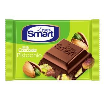 شکلات مغزدار پسته اي  دريم اسمارت 50 گرم شيرين عسل
