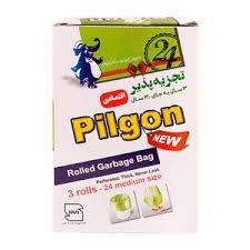 کيسه زباله سه رول 24 عددي اقصادي متوسط سبز پيلگون