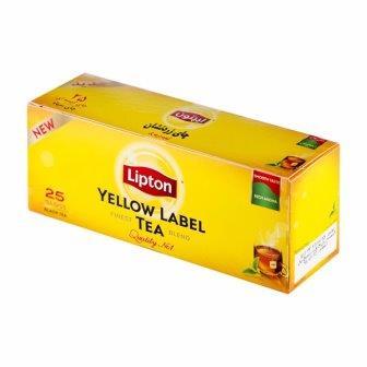 چاي کيسه اي ساده ليپتون 25 عددي