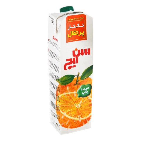 نکتار پرتقال پالپ دار سن ايچ پاکت 1 ليتر