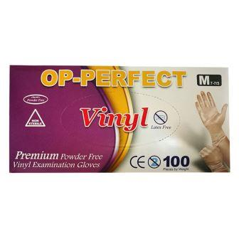 دستکش 100 عددي ضد حساسيت وينيل سايز متوسط