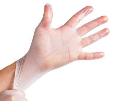 دستکش ضد حساسيت 8 عددي وينيل سايز متوسط