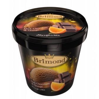 بستني ليواني شکلات تلخ و پرتقال بريموند 150 سي سي کاله