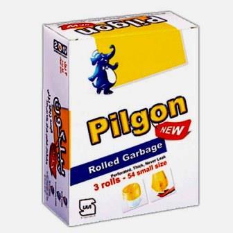 کيسه زباله سه رول 24 عددي اقصادي کوچک زرد پيلگون